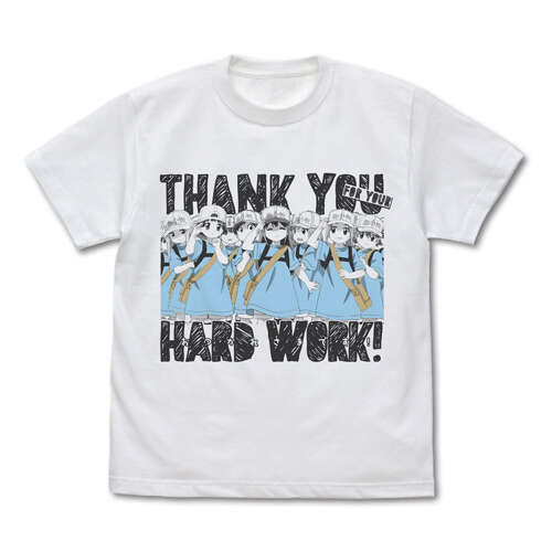 Platelet's Thank you for your Hard Work T-shirt White