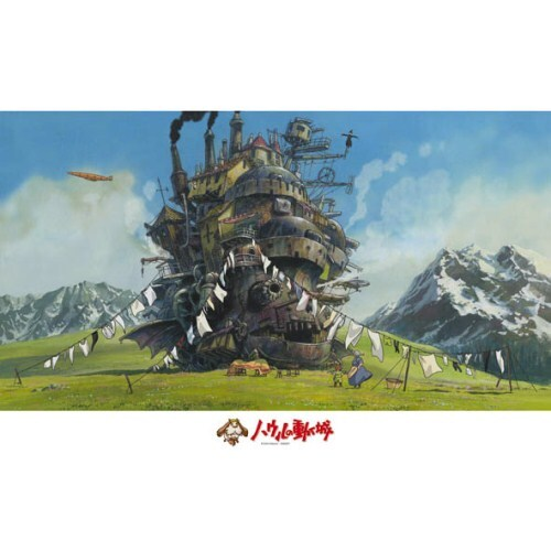 Jigsaw Puzzle - Howl's Moving Castle Washing Completed 1000 Piece 1000-258